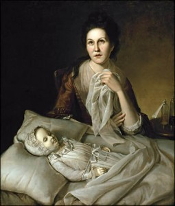 """Rachel Weeping"" by Peale (1772, 1776); Contemporary to my site of sadness."