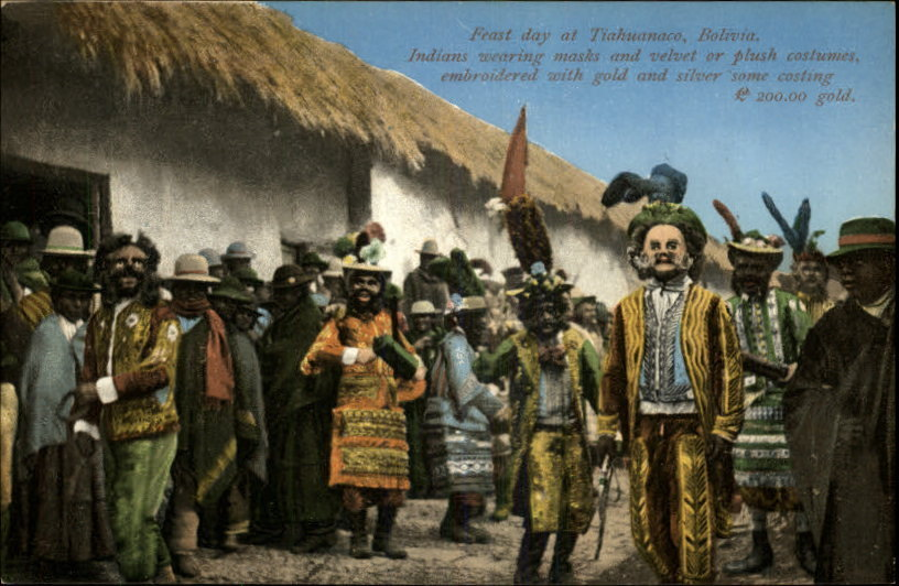 Feast Day at Tiahuanaco, Bolivia (postcard from 1910)