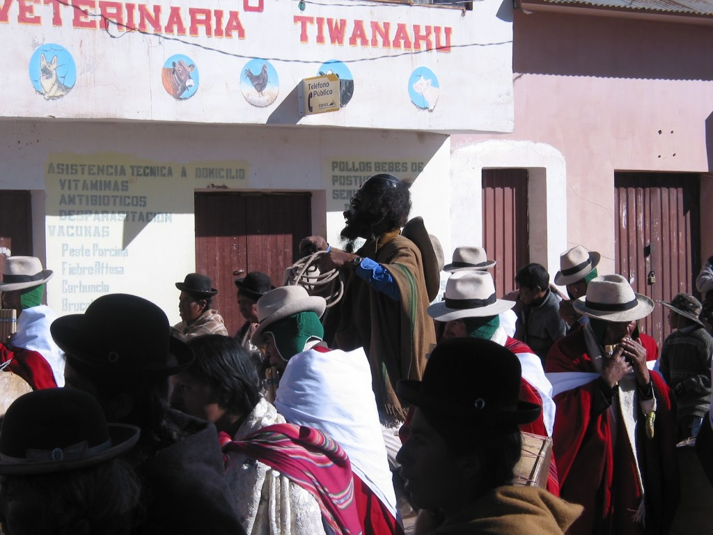 Feast Day at Tiwanaku, Bolivia (photograph from 2005)